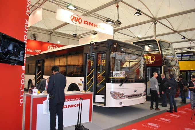 2013年,在第22届比利时客车展上,安凯携HFF6127G03EVA纯电动客车再次亮相