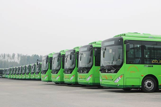 2017年的中通8米电动公交订单