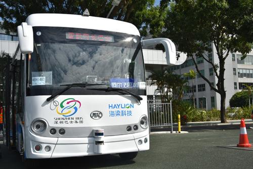 安凯无人驾驶公交车在深圳上路-实力演绎精彩,2017安凯客车强中显优高清图片