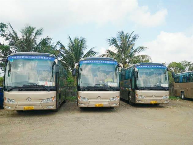 37辆金旅客车服务博鳌亚洲论坛