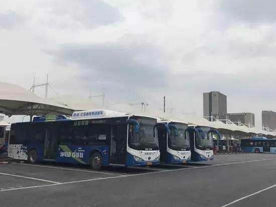 杭州公交集团拱康停车场保证对比亚迪纯电动客车一对一进行充电