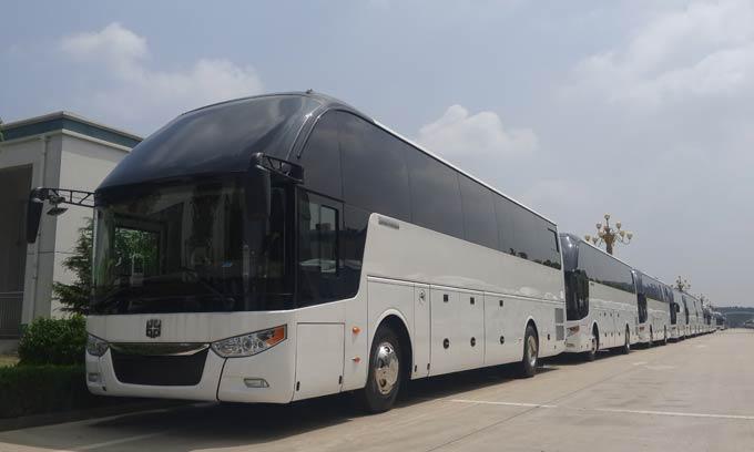 已交付沙特市场的中通高端旅游客车